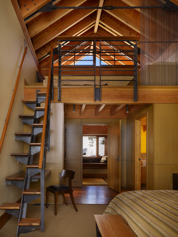 Tall ceiling industrial-bedroom