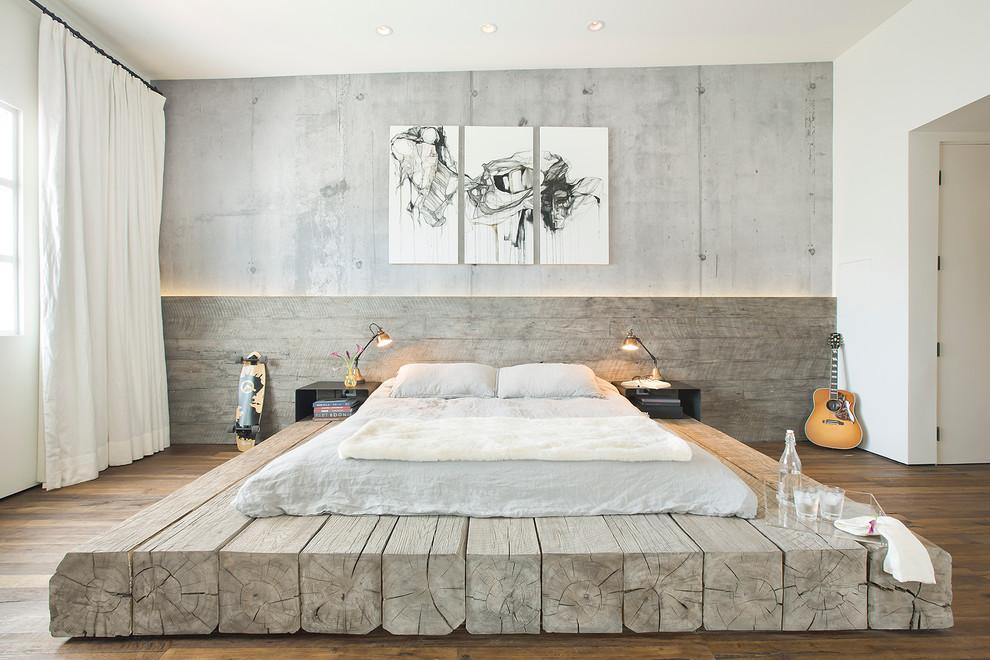 reclaimed log bedroom