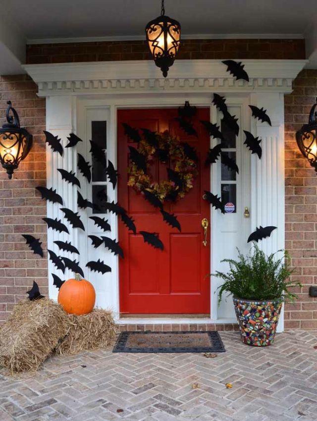 Bats Flying Across Door Decoration