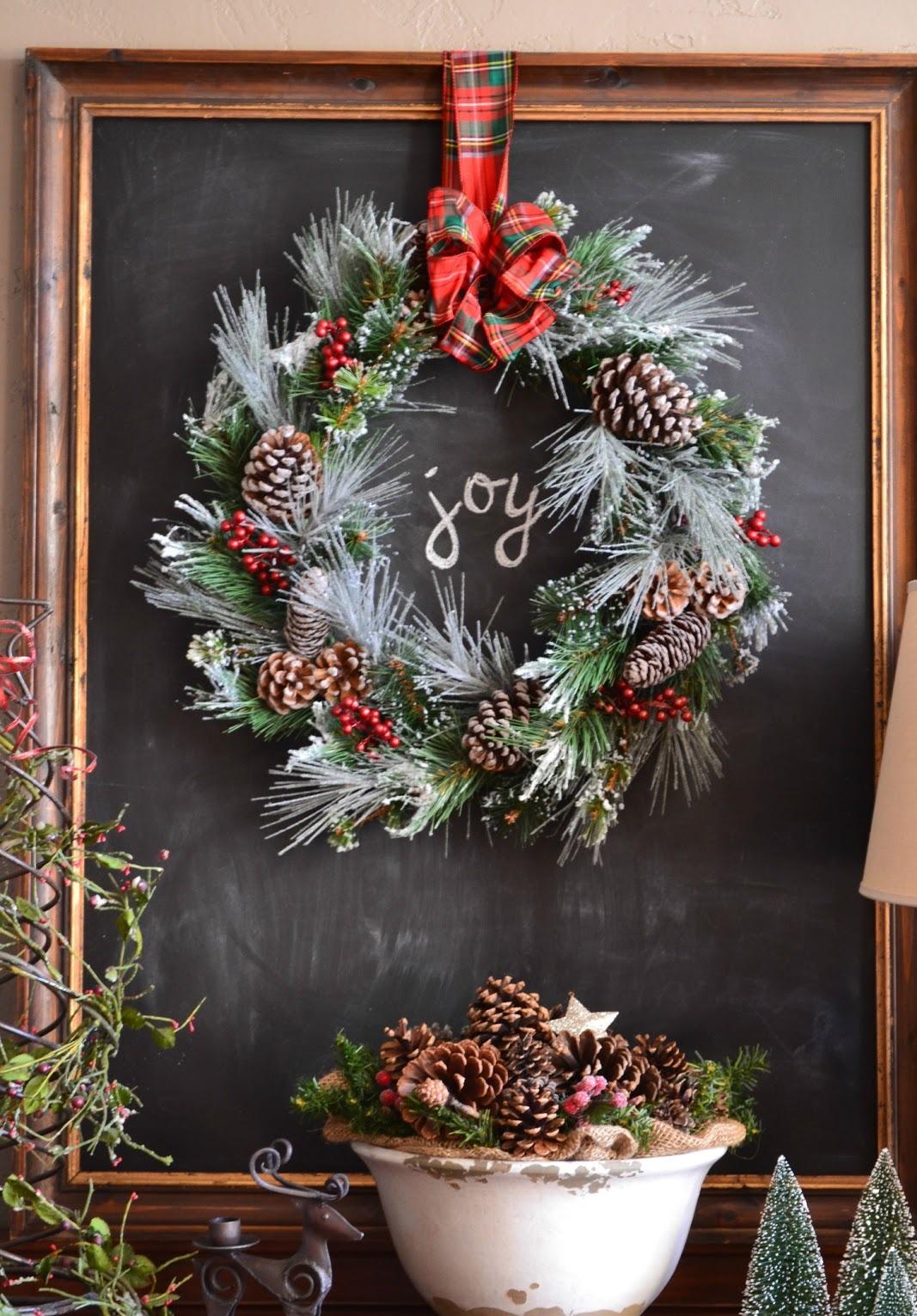 Chalkboard Christmas Wreath