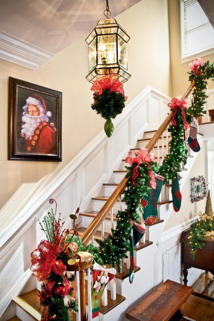 Christmas Staircase Decor Ideas