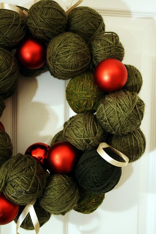 Christmas Yarn Wreath