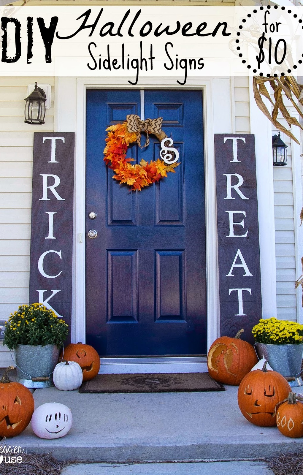 DIY Simple Halloween Welcome