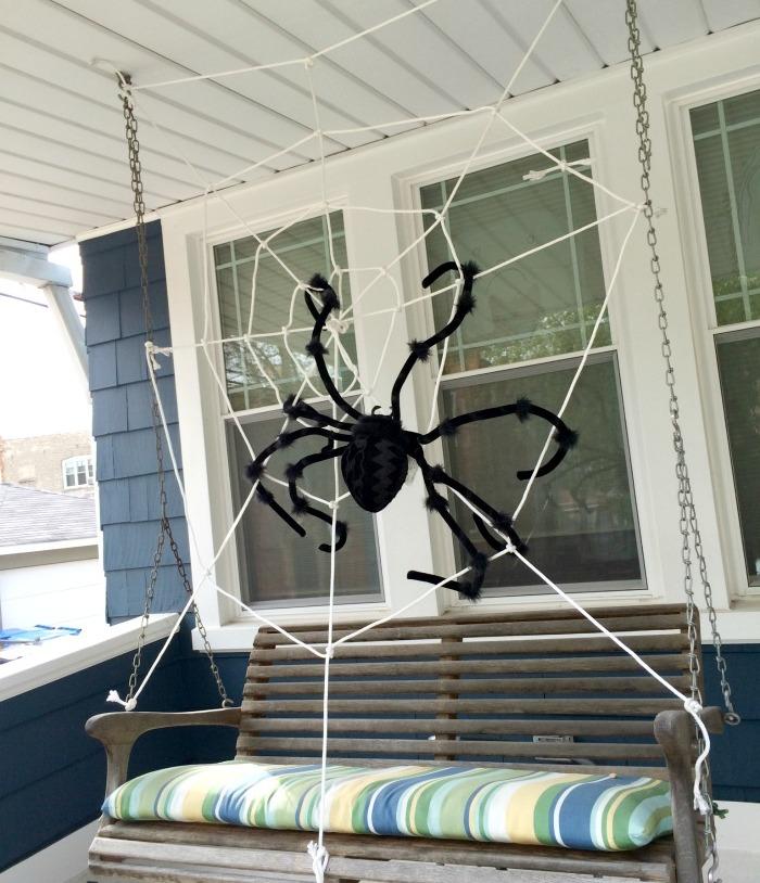 Easy DIY Porch Spider Decoration