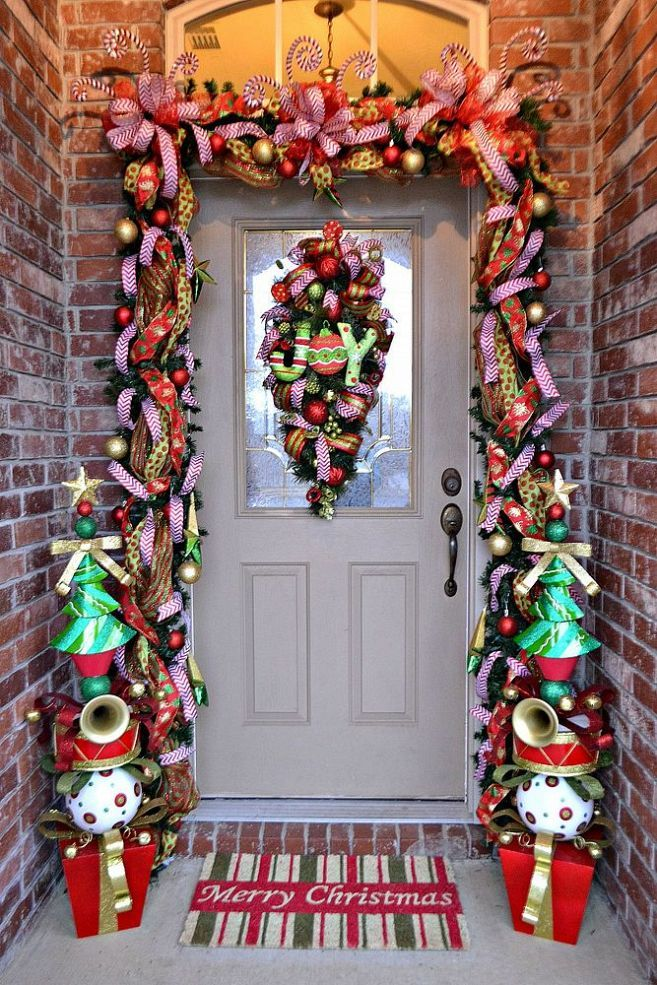 Whimsical Christmas Front Door