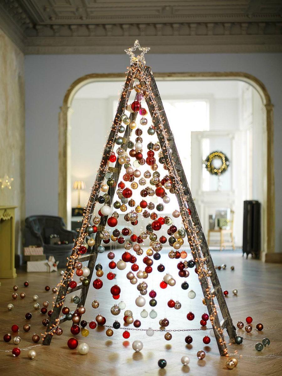 Alternative Christmas tree Ladder Dwellingdecor