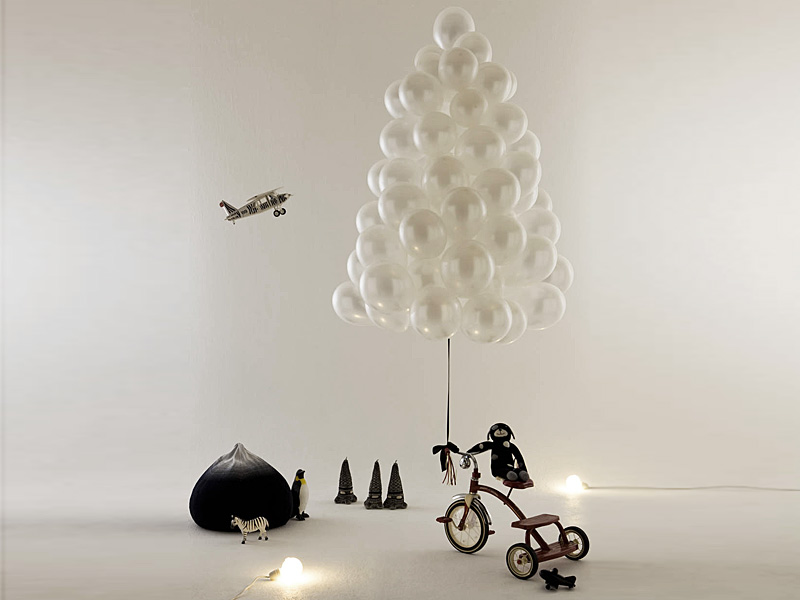Balloons Christmas Tree Thewowdecor