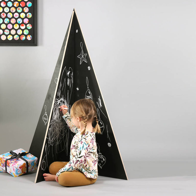 Chalkboard Christmas Tree Dwellingdecor