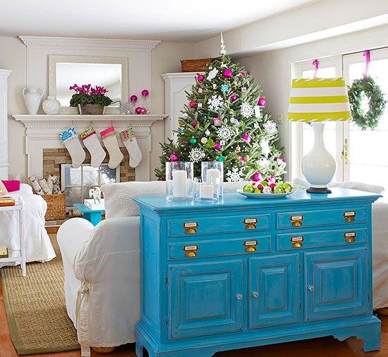 Christmas Living Room Decor Ideas (47)