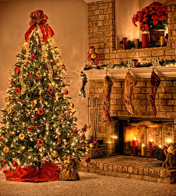 Cozy Christmas Tree Room Decoration