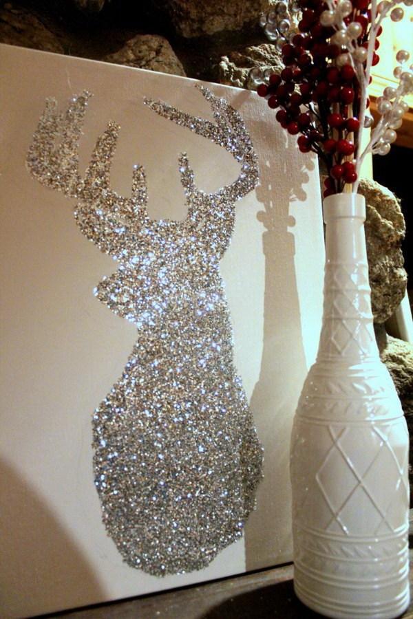 DIY Bright Sparkly Reindeer For Christmas Decor Thewowdecor