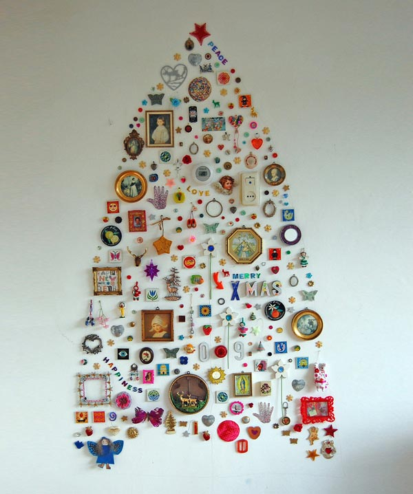 DIY Christmas Tree Ideas Collage on Wall Thewowdecor