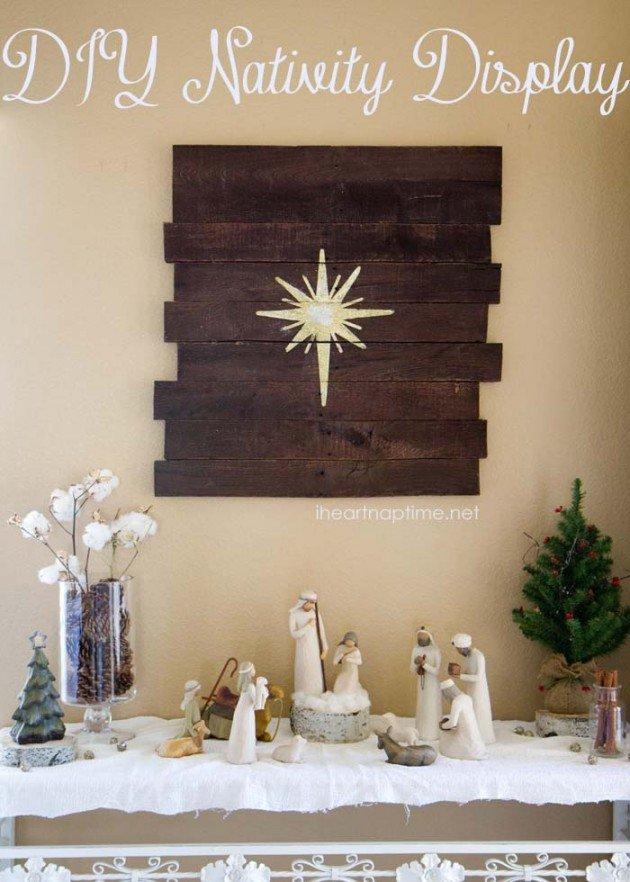 DIY Christmas Wall Art Ideas Thewowdecor (14)
