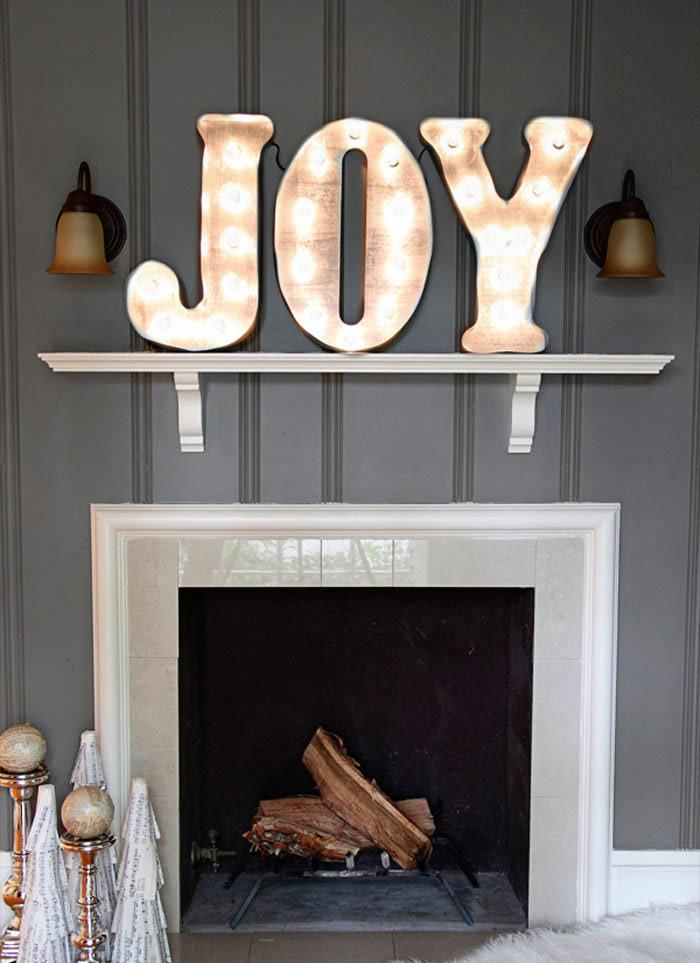 DIY Vintage Marquee Letters Thewowdecor