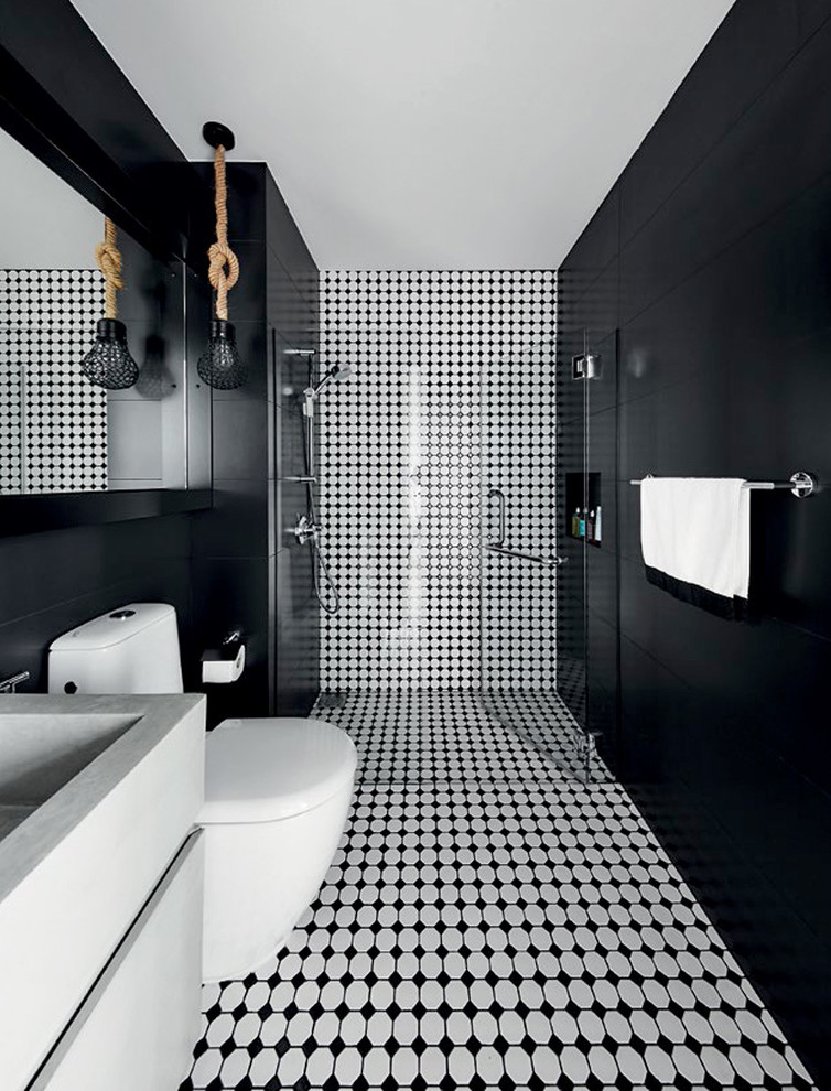 contemporary-bathroom-dark