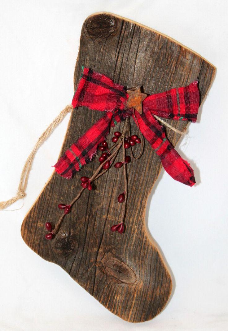 Barn Wood Christmas Stocking