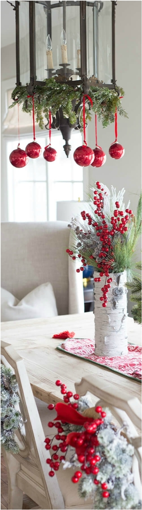 Berries Galore and Ornament Chandeliers thewowdecor