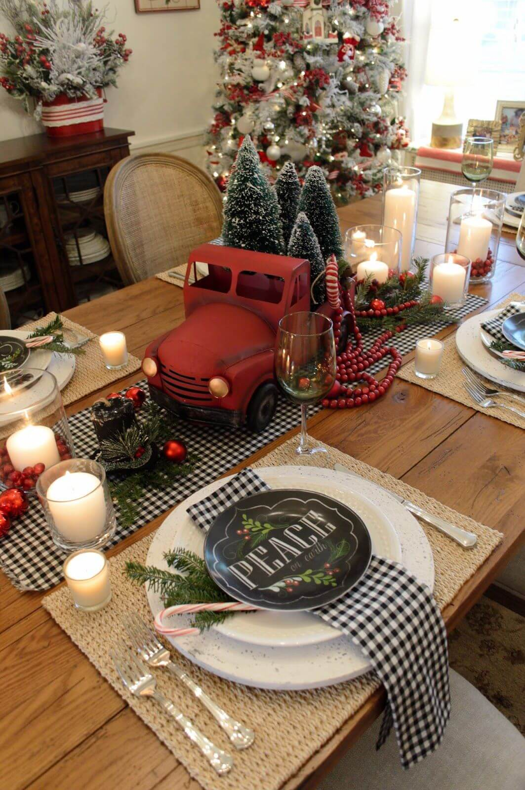Break Up Red with Black Plaid thewowdecor