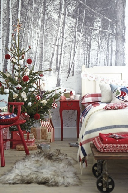 Christmas Bedroom Decor Ideas thewowdecor (11)