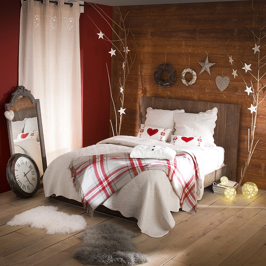 Christmas Bedroom Decor Ideas thewowdecor (40)
