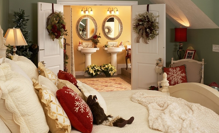 Christmas Bedroom Decor Ideas thewowdecor (44)