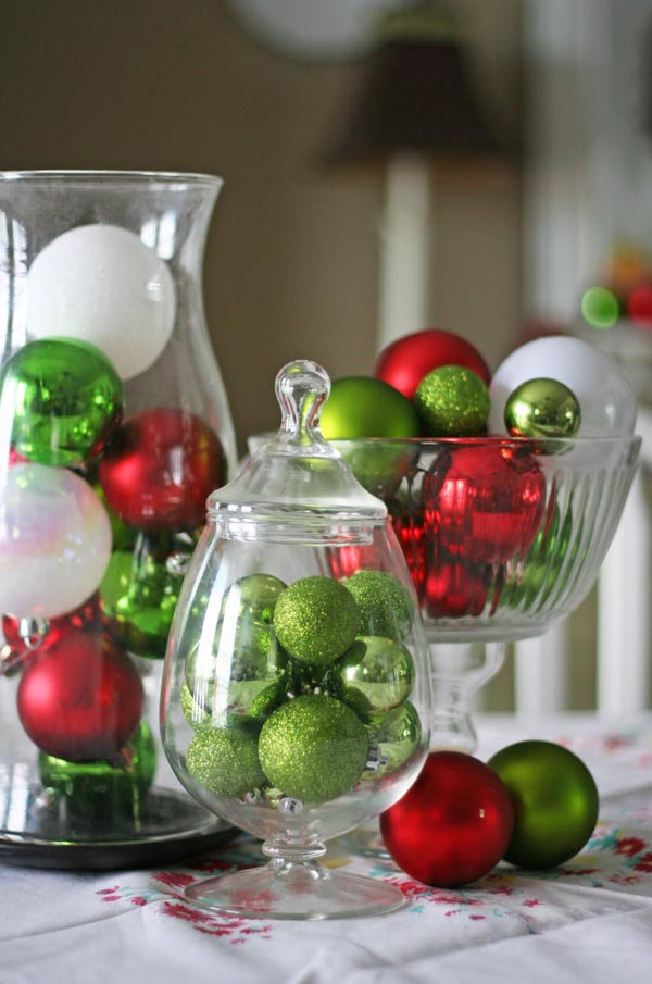 Christmas Centerpiece with Ornaments