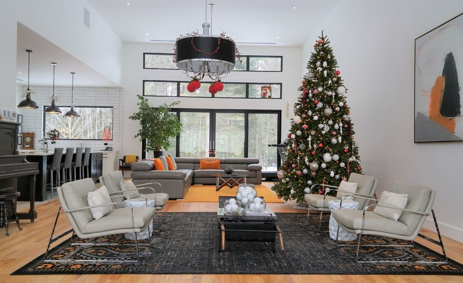 Christmas Living Room Decor Ideas thewowdecor (15)