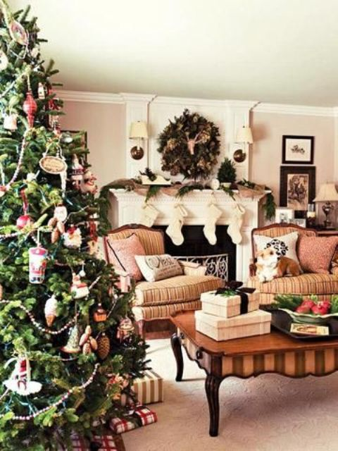 Christmas Living Room Decor Ideas thewowdecor (22)