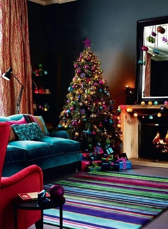 Christmas Living Room Decor Ideas thewowdecor (33)