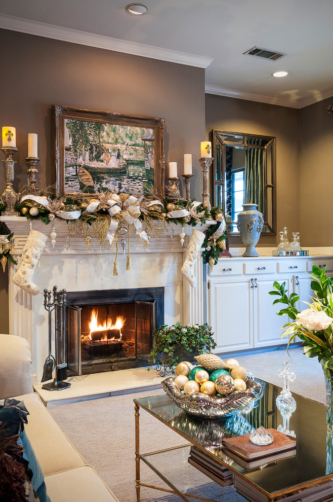 Christmas Living Room Decor Ideas thewowdecor (46)