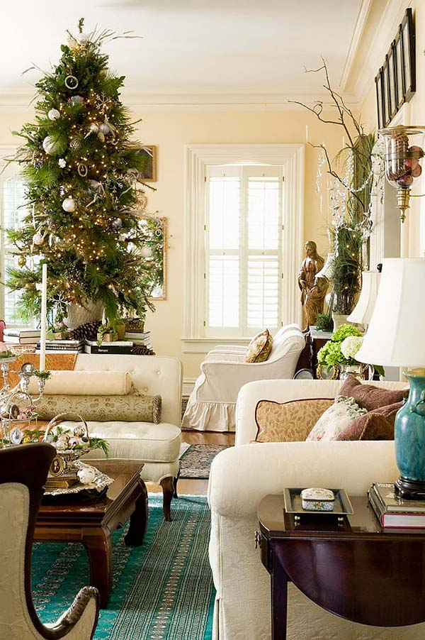 Christmas Living Room Decor Ideas thewowdecor (6)