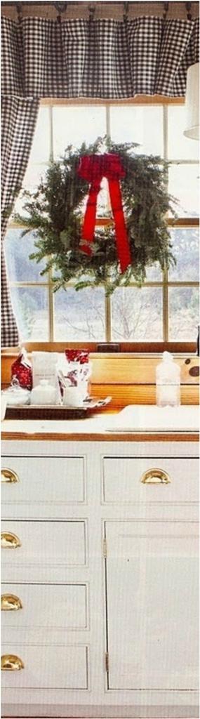 Christmas Window Decor for Kitchen
