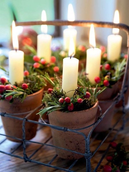 Country Christmas Centerpieces Ideas