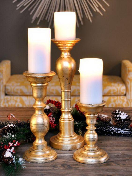 Gold Christmas Decoration Ideas (30)