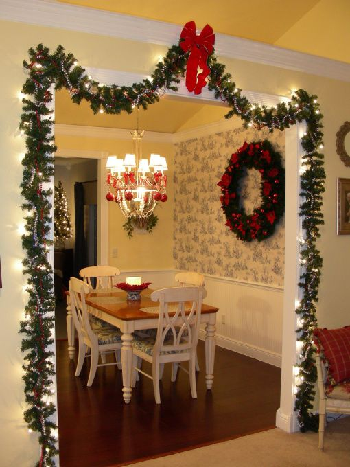 Kitchen with Christmas Decor
