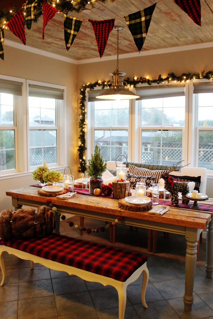 Rustic Kitchen Christmas Decorating Ideas