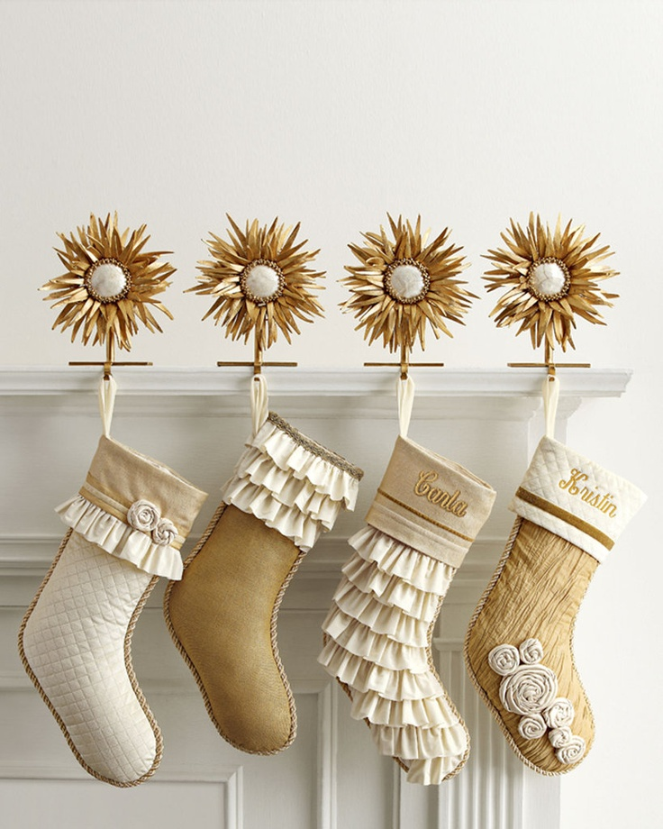 Champagne and Gold Christmas Stockings
