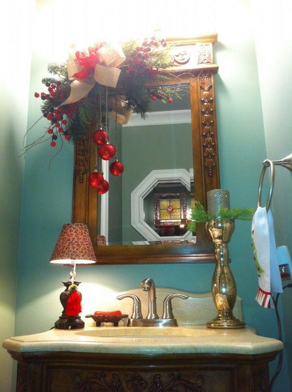 Christmas Bathroom Decor Mirror