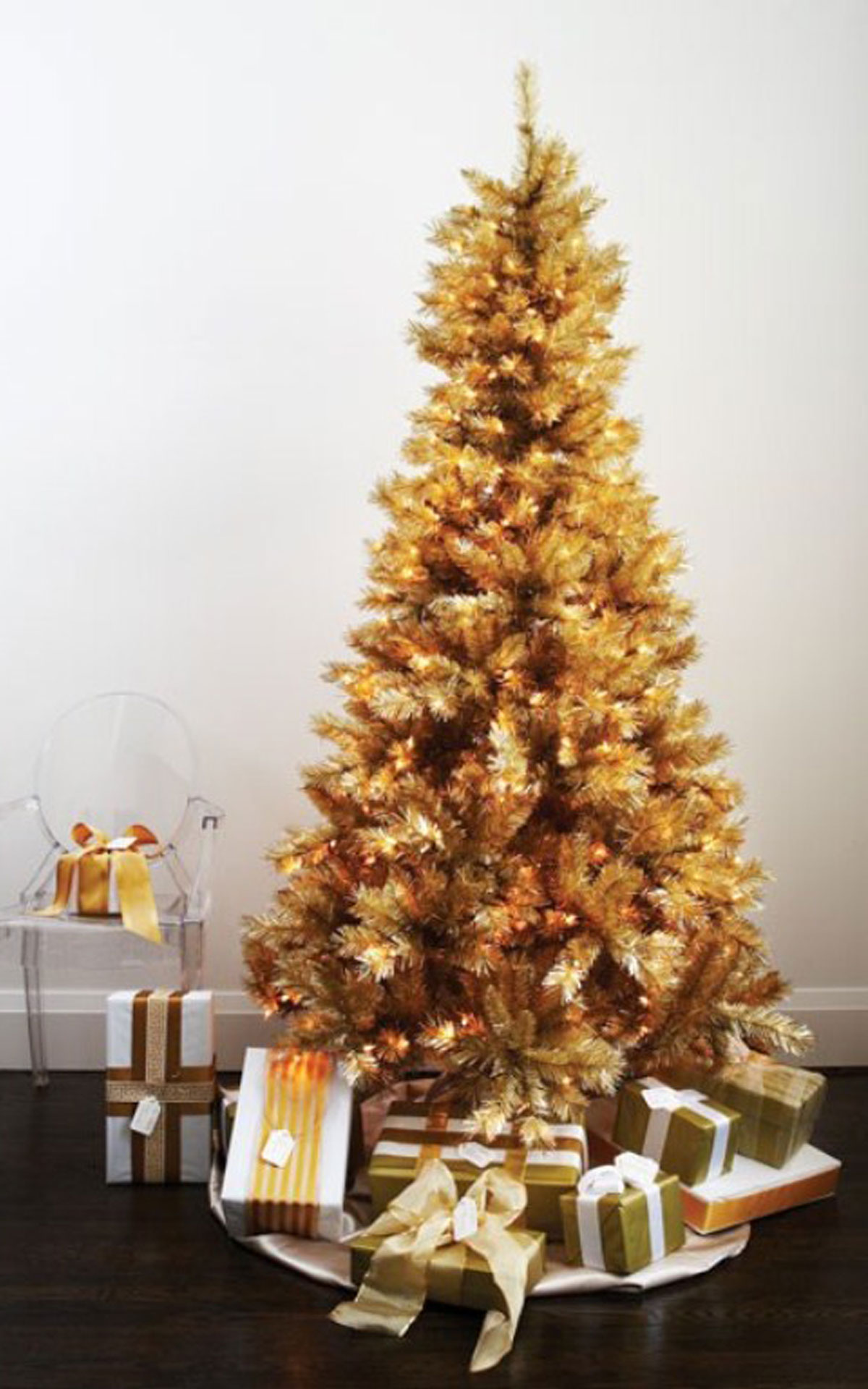 Gold Christmas Tree Ideas