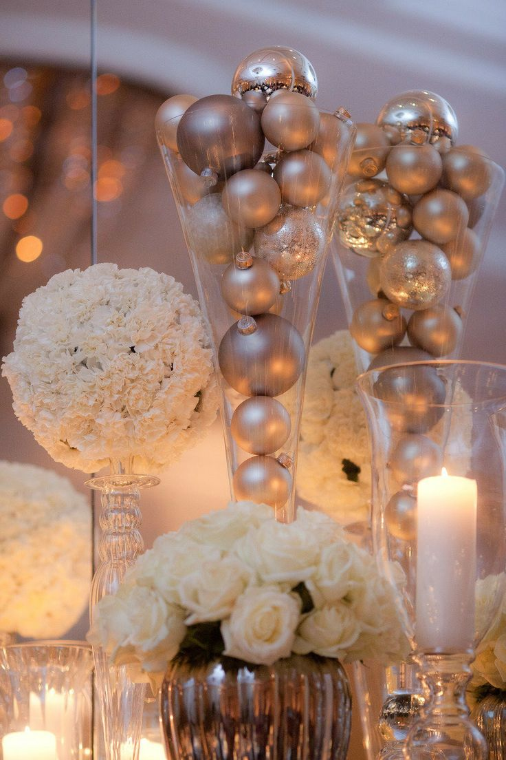 Winter Christmas Wedding Centerpieces Ideas