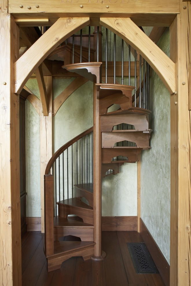 Wooden Spiral Staircase (21)