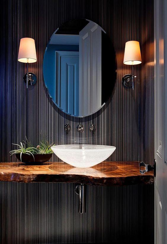 elegant+powder+room