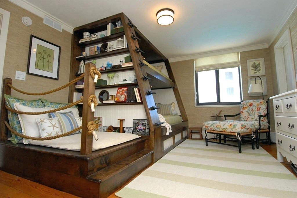 Custom Loft Bunk Beds With A Shelf Thewowdecor
