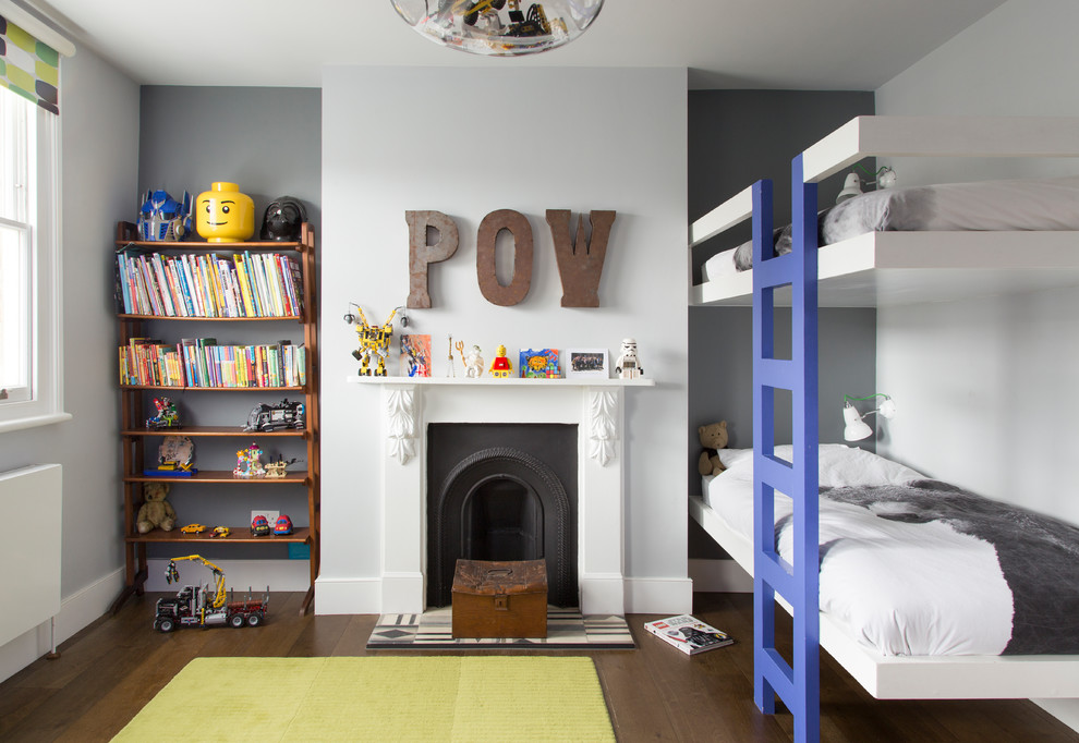 Mid-sized Trendy Boys Bunk Beds Thewowdecor