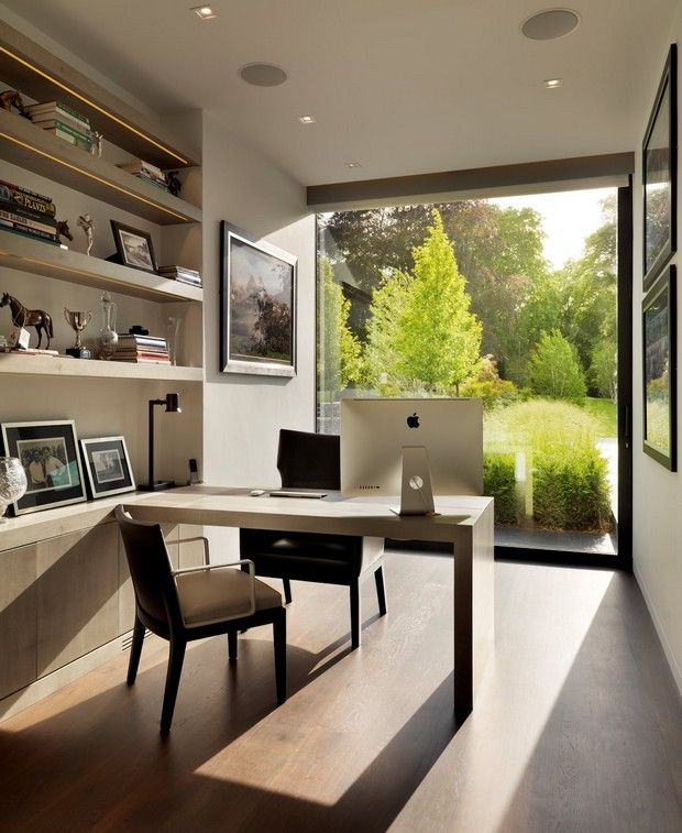 Open Concept Space Saving Home Office Thewowdecor