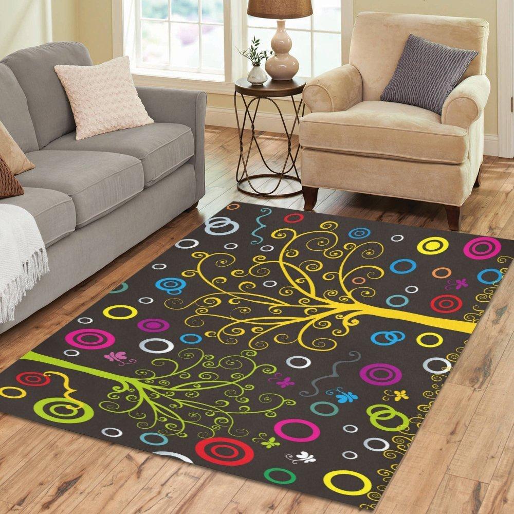 Tree of Life Colorful Dream Art Rug Thewowdecor
