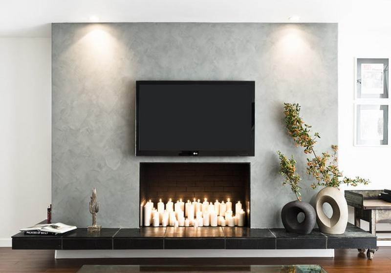 Candle Fireplace Design