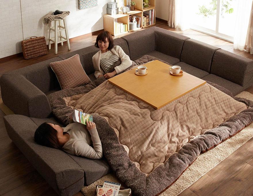 Benefits of kotatsu heated furniture