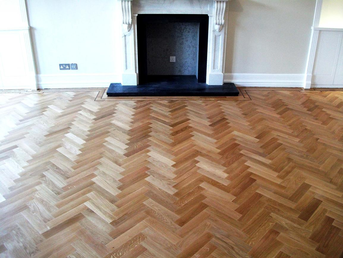 What is the standard budget for a hardwood flooring assignment