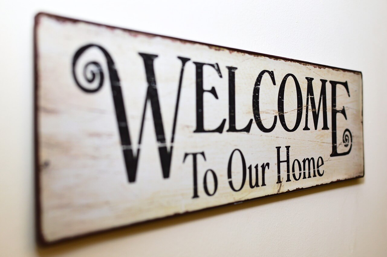 home welcoming